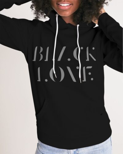 Women's Black Love Hoodie